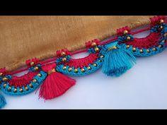 ಗ್ರ್ಯಾಂಡ್ ಲುಕ್ ಸೀರೆ ಕುಚ್ಚು ಡಿಸೈನ್/grand look saree kuchu design kannada Saree Kuchu New Designs, Saree Tassels Designs, Latest Mehndi Designs, Blouse Designs, Crochet Stitches Patterns, Crochet Designs, Hand Embroidery Designs, Embroidery Stitches, Kolam Designs