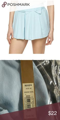 LC Lauren Conrad Bow Shorts Beautiful light blue shorts with bow. Brand new with tags and plastic. By LC Lauren Conrad.  Bundle and Save!!! All reasonable offers are always considered. LC Lauren Conrad Shorts