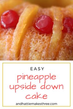 This pineapple upside down cake recipe is so easy and it comes out super delicious. I make it as a bundt style cake with sliced pineapple, maraschino cherries and boxed cake mix. Recipes Using Cake Mix, Box Cake Recipes, Cake Recipes From Scratch, Dessert Recipes, Pineapple Upside Down Bundt Cake Recipe, Pinapple Cake, Oatmeal Cake, Bunt Cakes, Banana Recipes