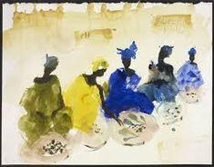 Imagen relacionada Sketch Painting, Watercolor Sketch, Watercolor Portraits, Watercolor Paintings, African American Art, African Art, Pablo Picasso Cubism, Miquel Barcelo, Spirited Art