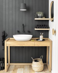"""2,892 Likes, 64 Comments - Scandinavian Colour + Design (@designstuff_group) on Instagram: """"// The clever nuts @sheltercoastalretreat converted a DESK into Bathroom Vanity Team DS. X…"""""""