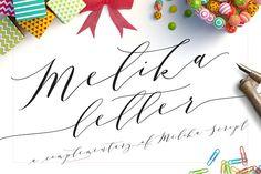 Melika Letter, Melika script family - Script - 1