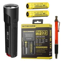 Nitecore EC4S 2150 Lumen Flashlight with 2X NL189 18650 Batteries and D2 Charger * See this great product.