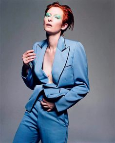 Tilda Swinton as David Bowie / Photographed by Craig McDean / For Vogue Italia, February 2003