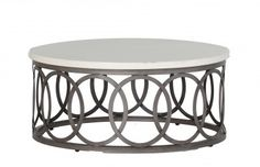 Outdoor Lower Level: Ella Coffee Table:  Travertine Top 36D x 16.5H $962