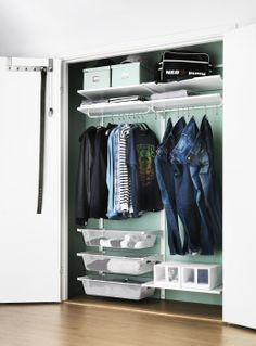 New Year's resolution: get organized!  Give your closet a complete makeover with an ALGOT storage solution.