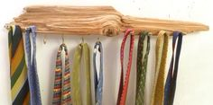 Cool Gifts for Him,  Tie Rack, Wood Tie Rack, Driftwood Rack, Gifts for Dad, Men's Christmas Gifts, Wooden Tie Rack, Tie Organizer, by DivineDriftwood on Etsy