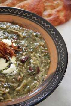 My Persian Feast: Aash-e Reshteh - آش رشته - Noodle Soup