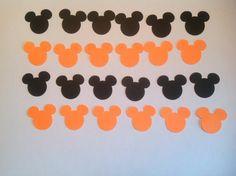 200 Halloween Mickey Mouse Confetti, Holidays, Boy Birthday, Occasions, Holiday Decor, Party Decor on Etsy, $6.50