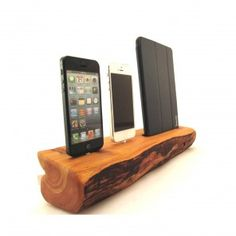 iPad Mini and Dual iPhone 5 CedarWood Docking Station for BourbonandBoots.com