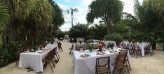 Westin pool side wedding reception