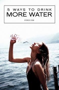 Are you drinking enough H20? Here are 5 ways to trick yourself into drinking more water. // #Health #Skincare