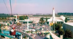 Tomorrowland from the Skyway - Disneyland 1959
