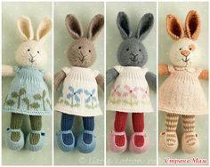 Нашла в интернете вот таких милых зайчат. И спасибо тому кто написал описание их ( рукодельница miss_kochkina's journal) Загляните на этот сайт, не пожалеете. Там столько красоты!!!