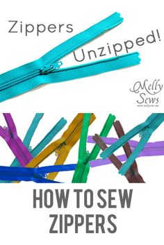 How to sew zippers with a neat trick using scotch tape and a seam ripper.