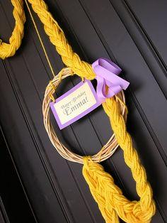 Rapunzel party wreath.