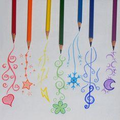 Dessin aux crayons de couleur