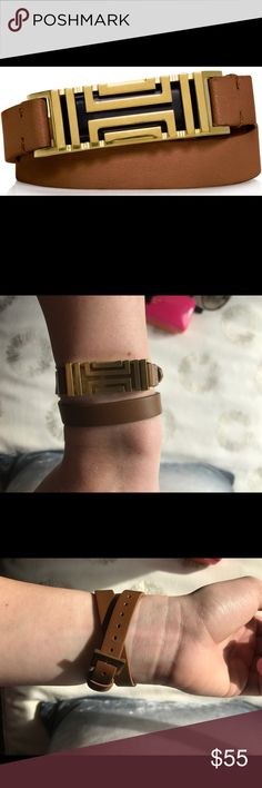 Tory Burch Wrap Bracelet for Fitbit Flex Perfect condition - never worn!! A super cute way to disguise that you are wearing a Fitbit. Doesn't include the Fitbit! Tory Burch Jewelry Bracelets