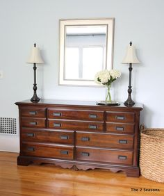 How to update a dresser without paint.