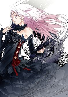 Guilty Crown. Inori, you're so beautiful. And this artwork escalated it.