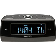 Roberts Chrono Dab Radio Alarm Clock (720 SEK) ❤ liked on Polyvore featuring home, home decor, clocks, blue digital alarm clock, digital clock alarm, radio clock, alarm-clock and radio alarm clock