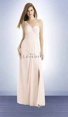 Bridesmaid Dress  Bill Levkoff 749 One Shoulder Chiffon Bridesmaid Dress image