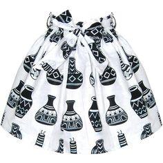 FAIR+true Fair Trade African Print Ruched Skirt by None, via Polyvore