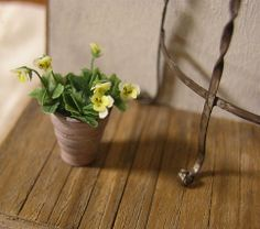 Dollhouse Rosy violas, delicate