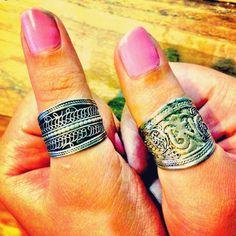 Tibetan silver thumb rings  $25