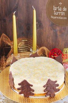 Tarta de turrón Sweet Recipes, Cake Recipes, Dessert Recipes, Vanilla Cake, Birthday Candles, Bakery, Food And Drink, Mousse, Yummy Food