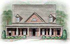 Home Plans HOMEPW12709 - 2,683 Square Feet, 5 Bedroom 3 Bathroom Greek Revival Home with