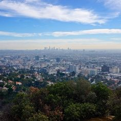 View over Los Angeles from Runyon Canyon #cityview #losangeles #runyoncanyon #travel
