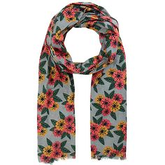Buy Seasalt Zinnie Flower Cobble Print Scarf, Multi from our Women's Hats, Gloves & Scarves range at John Lewis & Partners. Hats For Women, Floral Prints, Stuff To Buy, Outfits, Ditsy, Shopping, Color, Poppy, Outfit Ideas