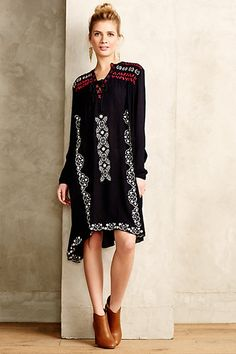 at Anthropologie Embroidered Peasant Dress Boho Chic, Bohemian, Dress Outfits, Dress Up, Vestido Casual, Boho Fashion, Womens Fashion, Estilo Boho, Simple Dresses