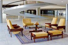 Palácio do Planalto, Brasília / BR  Furniture Sérgio Rodrigues