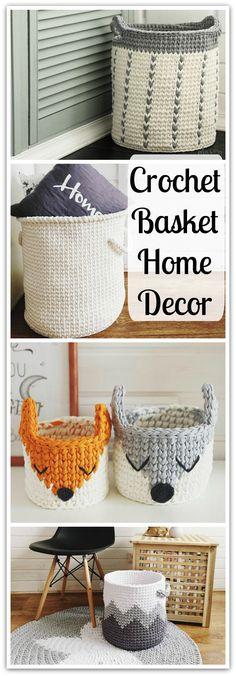 Large storage basket / Nursery storage / Toys basket / Crochet basket / Laundry basket / Toy storage / Modern basket / Home Decor #ad #affiliate