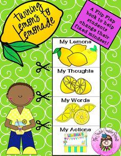 Lemons to Lemonade Flip Flap Book Growth Mindset Activity Growth Mindset Lessons, Growth Mindset Activities, Coping Skills Activities, Counseling Activities, Positive Self Talk, Positive Attitude, Elementary School Counselor, Fixed Mindset, Guidance Lessons