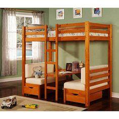kids loft beds walmart   ... Table Convertible Bunk Bed, Maple: Kids' & Teen Rooms : Walmart.com