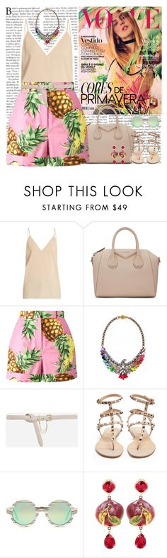 """tropical"" by helena99 ❤ liked on Polyvore featuring Raey, Givenchy, Dolce&Gabbana, Phenix, CHARLES & KEITH, Valentino and Illesteva"
