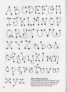 Dot to Dot letters! Need to practice these, too. Hand Lettering Alphabet, Doodle Lettering, Creative Lettering, Lettering Styles, Brush Lettering, Cool Fonts Alphabet, Doodle Alphabet, Letter Fonts, Doodle Fonts