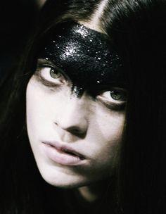 Denisa Dvorakova backstage at Givenchy Haute Couture S/S 2008.