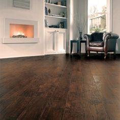Karndean Art Select Hickory Peppercorn Vinyl Flooring Tiles - Every Floor Direct Rustic Wood Floors, Dark Wood Floors, Wooden Flooring, Vinyl Flooring, Flooring Tiles, Rubber Flooring, Hallway Decorating, Interior Decorating, Interior Design