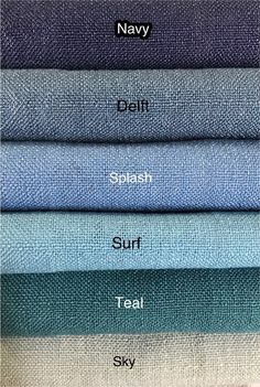 Natura Collection available in 40 colors! Shabby Chic Curtains, Linen Curtains, Linen Fabric, Burlap Fabric, Drapery Designs, Custom Drapes, Drapery Panels, Fabric Samples, Fabric Swatches