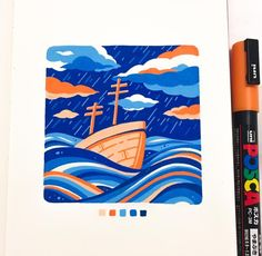 Gouache Illustrations, Illustration Sketches, Art Sketches, Art Drawings, Posca Marker, Marker Art, Gouache Painting, Painting & Drawing, Minimalist Bullet Journal