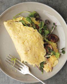Mushroom & Microgreen Omelet
