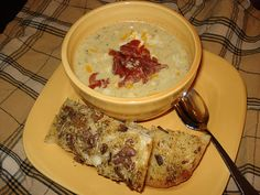 Broccoli Cheddar Soup with BACON! - slow cooker