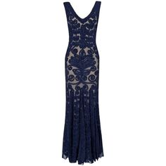 Phase Eight Paloma full length dress (200 CAD) ❤ liked on Polyvore featuring dresses, gowns, long dresses, navy, clearance, blue gown, navy blue evening dress, navy blue gown, evening gowns and evening dresses