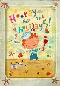 Hooray for the Holidays by Alistar  #illustration #art #children