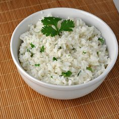 Cilantro Lime Rice - good idea for Chipotle at home!