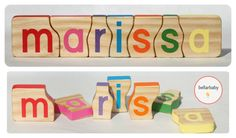 Wooden Name Puzzle by bellarbaby on Etsy